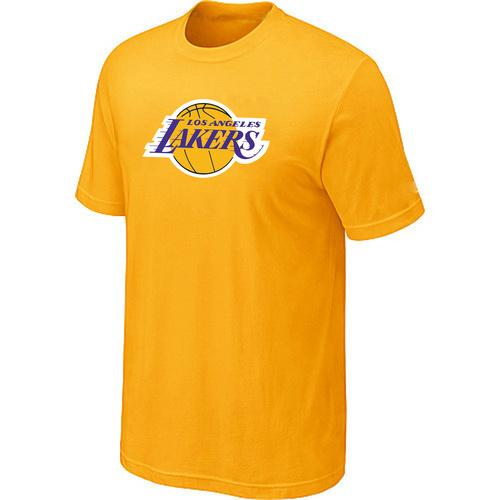 Los Angeles Lakers Big & Tall Primary Logo Yellow NBA T-Shirts