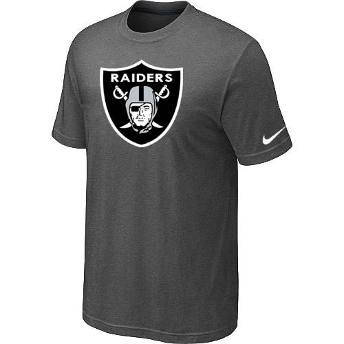 Oakland Raiders Sideline Legend Authentic Logo Dri-FIT Nike NFL T-Shirt Crow Grey