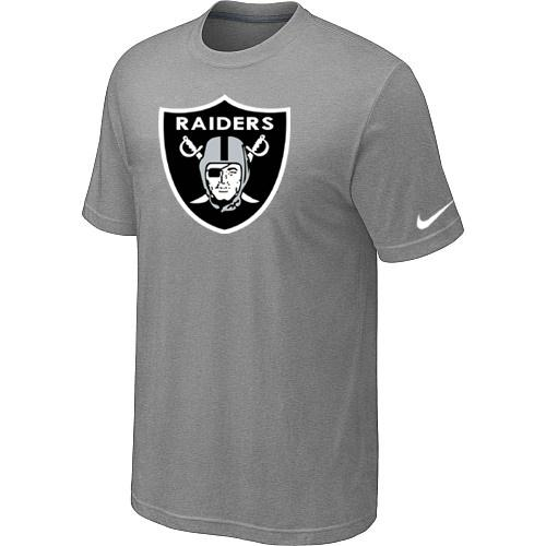 Oakland Raiders Sideline Legend Authentic Logo Dri-FIT Nike NFL T-Shirt Light Grey