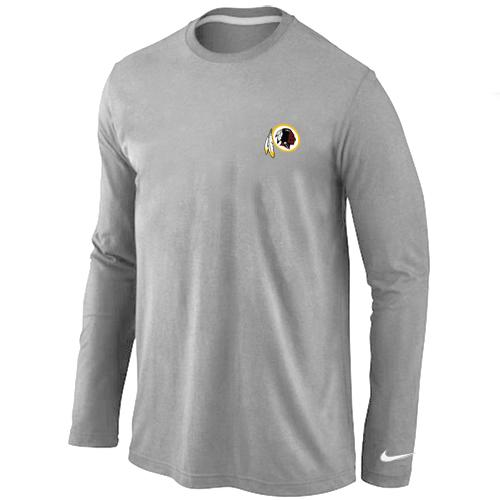 Nike Washington Redskins Sideline Legend Authentic Logo Long Sleeve T-Shirt Grey