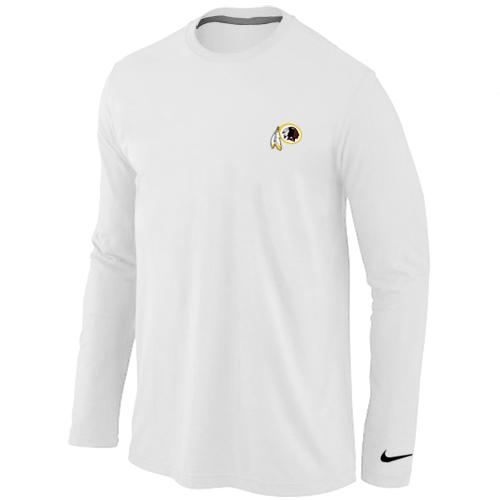 Nike Washington Redskins Sideline Legend Authentic Logo Long Sleeve T-Shirt White