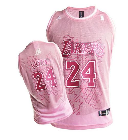 Los Angeles Lakers #24 Kobe Bryant Pink Women Fashion Stitched NBA Jersey