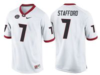 Men's Nike Georgia Bulldogs #7 Matthew Stafford White NCAA College Football Jersey