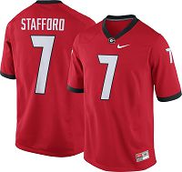 Men's Nike Georgia Bulldogs #7 Matthew Stafford Red NCAA College Football Jersey