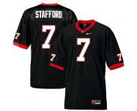 Men's Nike Georgia Bulldogs #7 Matthew Stafford College Football Black NCAA Jerse