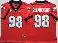 Men's Nike Georgia Bulldogs #98 Rodrigo Blankenship Stitched College Football Jersey Red
